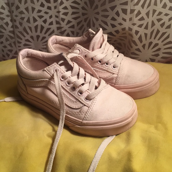 Vans Shoes | White Pink Girls Size 11